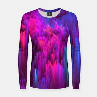 Thumbnail image of Outrun the Mist - Abstract Glitch Pixel Art Women sweater, Live Heroes