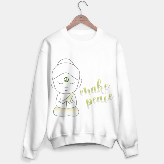 Miniatur Buddha with an inspirational message Sweater regular, Live Heroes