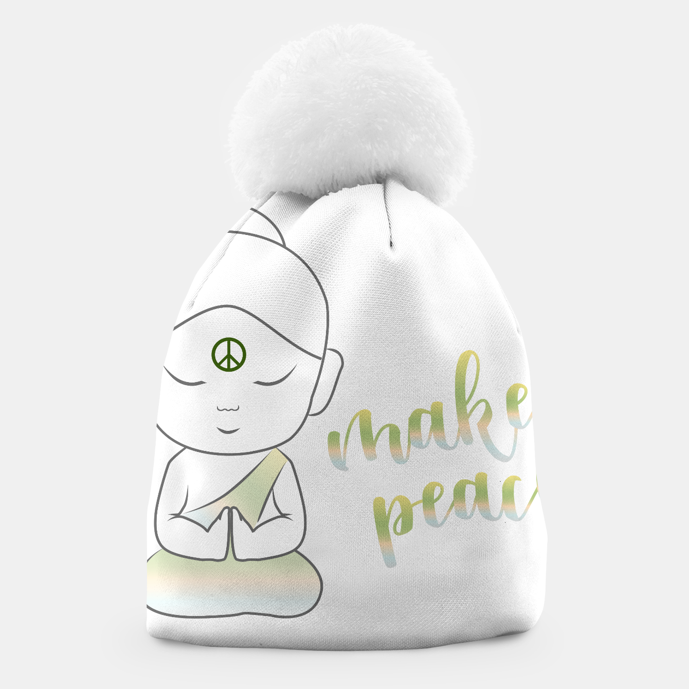 Image of Buddha with an inspirational message Beanie - Live Heroes