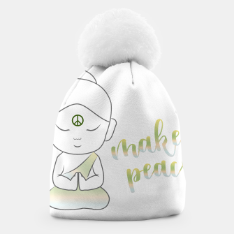 Miniatur Buddha with an inspirational message Beanie, Live Heroes