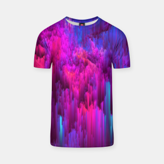 Thumbnail image of Outrun the Mist - Abstract Glitch Pixel Art T-shirt, Live Heroes