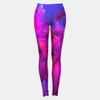 Thumbnail image of Outrun the Mist - Abstract Glitch Pixel Art Leggings, Live Heroes