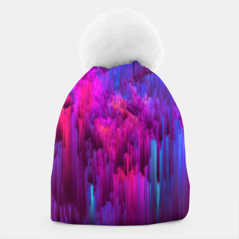 Thumbnail image of Outrun the Mist - Abstract Glitch Pixel Art Beanie, Live Heroes