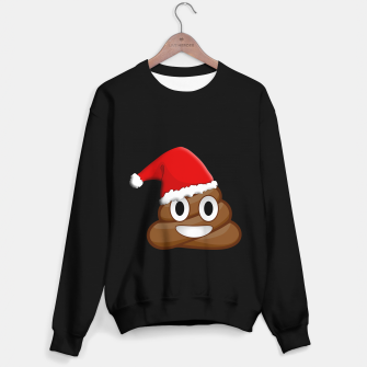 Thumbnail image of Christmas poop emoji  Sweater regular, Live Heroes