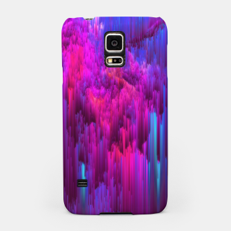 Thumbnail image of Outrun the Mist - Abstract Glitch Pixel Art Samsung Case, Live Heroes