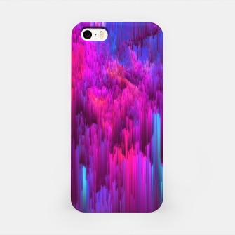 Thumbnail image of Outrun the Mist - Abstract Glitch Pixel Art iPhone Case, Live Heroes