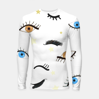 Miniatur Beauty eyes and eye lashes pattern Longsleeve rashguard , Live Heroes