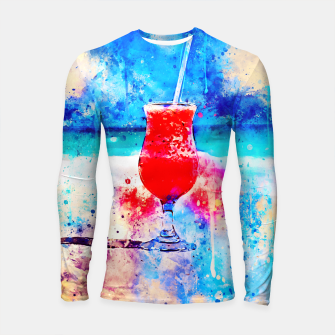 Miniatur gxp sex on the beach cocktail cool summer splatter watercolor Longsleeve rashguard , Live Heroes