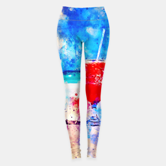 Miniatur gxp sex on the beach cocktail cool summer splatter watercolor Leggings, Live Heroes