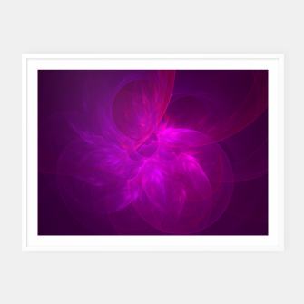 Thumbnail image of Magenta Illusion Framed poster, Live Heroes