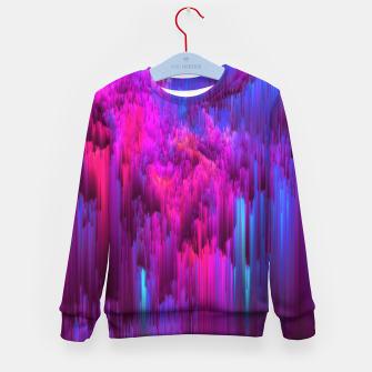 Thumbnail image of Outrun the Mist - Abstract Glitch Pixel Art Kid's sweater, Live Heroes