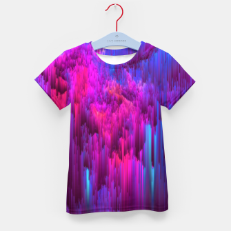 Thumbnail image of Outrun the Mist - Abstract Glitch Pixel Art Kid's t-shirt, Live Heroes