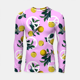 Miniatur Peace Symbol and Lemon Patterns Longsleeve rashguard , Live Heroes