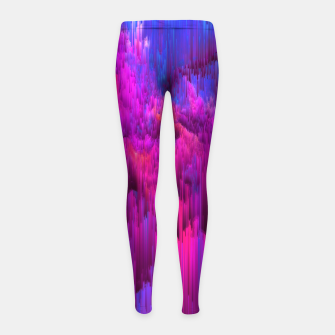 Thumbnail image of Outrun the Mist - Abstract Glitch Pixel Art Girl's leggings, Live Heroes