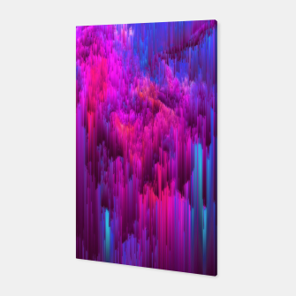 Thumbnail image of Outrun the Mist - Abstract Glitch Pixel Art Canvas, Live Heroes