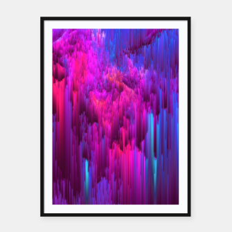 Thumbnail image of Outrun the Mist - Abstract Glitch Pixel Art Framed poster, Live Heroes