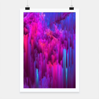 Thumbnail image of Outrun the Mist - Abstract Glitch Pixel Art Poster, Live Heroes
