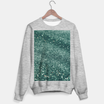 Thumbnail image of Teal Mermaid Ocean Glitter #2 #shiny #decor #art  Sweatshirt regulär, Live Heroes