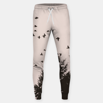 Miniatur Flying birds and pine trees Sweatpants, Live Heroes