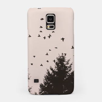 Miniatur Flying birds and pine trees Samsung Case, Live Heroes