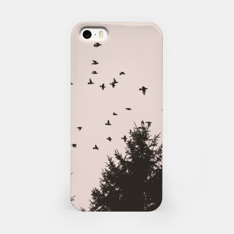 Miniatur Flying birds and pine trees iPhone Case, Live Heroes