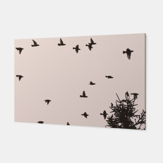 Miniatur Flying birds and pine trees Canvas, Live Heroes
