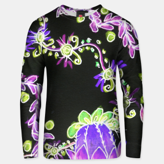 Thumbnail image of Psychedelic Irish Garden Queen's Crown Night Unisex sweater, Live Heroes