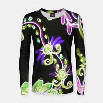 Thumbnail image of Psychedelic Irish Garden Queen's Crown Night Women sweater, Live Heroes