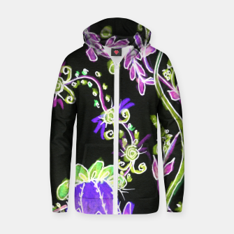 Thumbnail image of Psychedelic Irish Garden Queen's Crown Night Zip up hoodie, Live Heroes
