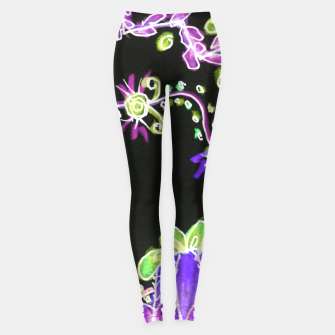 Thumbnail image of Psychedelic Irish Garden Queen's Crown Night Leggings, Live Heroes