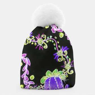 Thumbnail image of Psychedelic Irish Garden Queen's Crown Night Beanie, Live Heroes