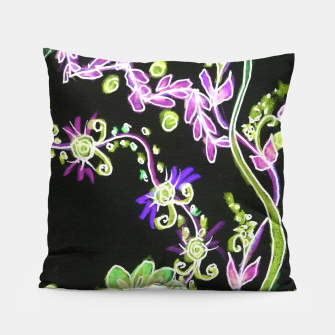 Thumbnail image of Psychedelic Irish Garden Queen's Crown Night Pillow, Live Heroes