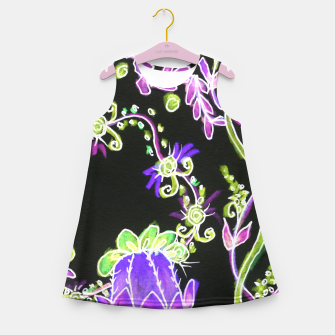 Thumbnail image of Psychedelic Irish Garden Queen's Crown Night Girl's summer dress, Live Heroes