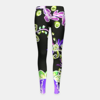 Thumbnail image of Psychedelic Irish Garden Queen's Crown Night Girl's leggings, Live Heroes