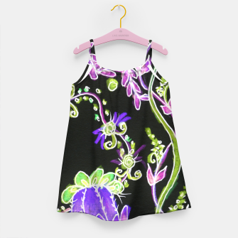 Thumbnail image of Psychedelic Irish Garden Queen's Crown Night Girl's dress, Live Heroes