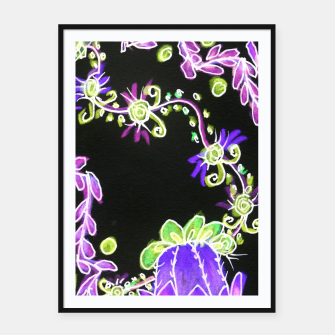 Thumbnail image of Psychedelic Irish Garden Queen's Crown Night Framed poster, Live Heroes