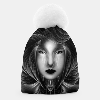 Thumbnail image of Trilia Red Nebula Portrait BLKGS Beanie, Live Heroes
