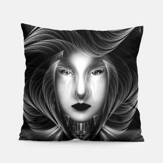 Thumbnail image of Trilia Red Nebula Portrait BLKGS Pillow, Live Heroes
