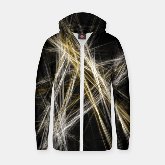 Thumbnail image of Abstract 1 - Gold & Silver Reißverschluss kapuzenpullover, Live Heroes