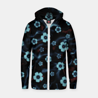 Thumbnail image of Floral abstract Zip up hoodie, Live Heroes