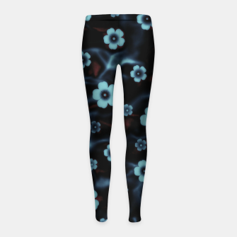 Thumbnail image of Floral abstract Girl's leggings, Live Heroes