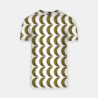 Thumbnail image of Glitter Moon Gold Pattern Design T-shirt, Live Heroes