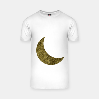 Thumbnail image of Glitter Moon Gold White T-shirt, Live Heroes
