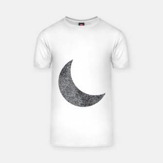 Thumbnail image of Silver Glitter Moon White T-shirt, Live Heroes