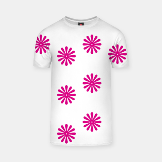 Thumbnail image of Magenta Flowers Design T-shirt, Live Heroes