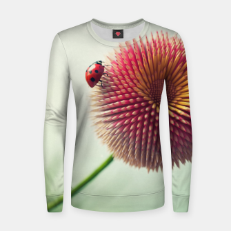 Thumbnail image of Pencil Flower Women sweater, Live Heroes