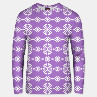 Thumbnail image of Abstract pattern - purple and white. Unisex sweater, Live Heroes