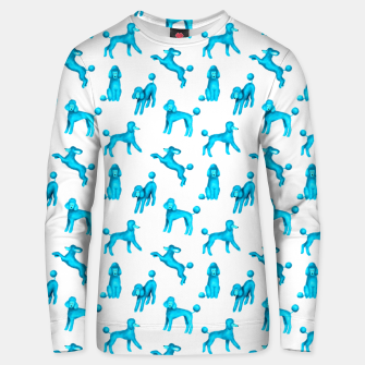 Thumbnail image of Turquoise Blue Poodles Unisex sweater, Live Heroes