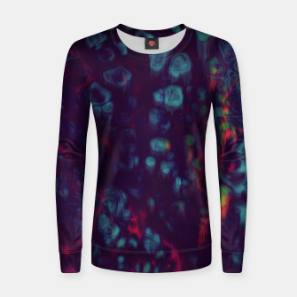 Thumbnail image of Synthwave - Abstract Glitchy Pixel Art Women sweater, Live Heroes