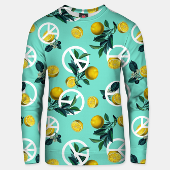 Thumbnail image of Peace Symbol and Lemon Patterns Unisex sweater, Live Heroes